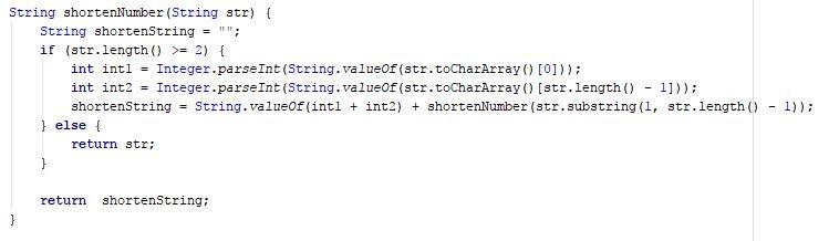 shortenNumber function