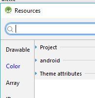 Color resource