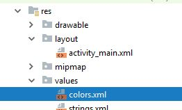 Colors XML