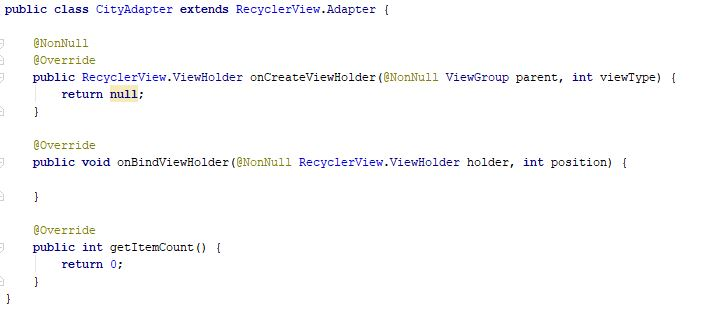 Code after implementation