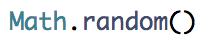 Random number in JavaScript