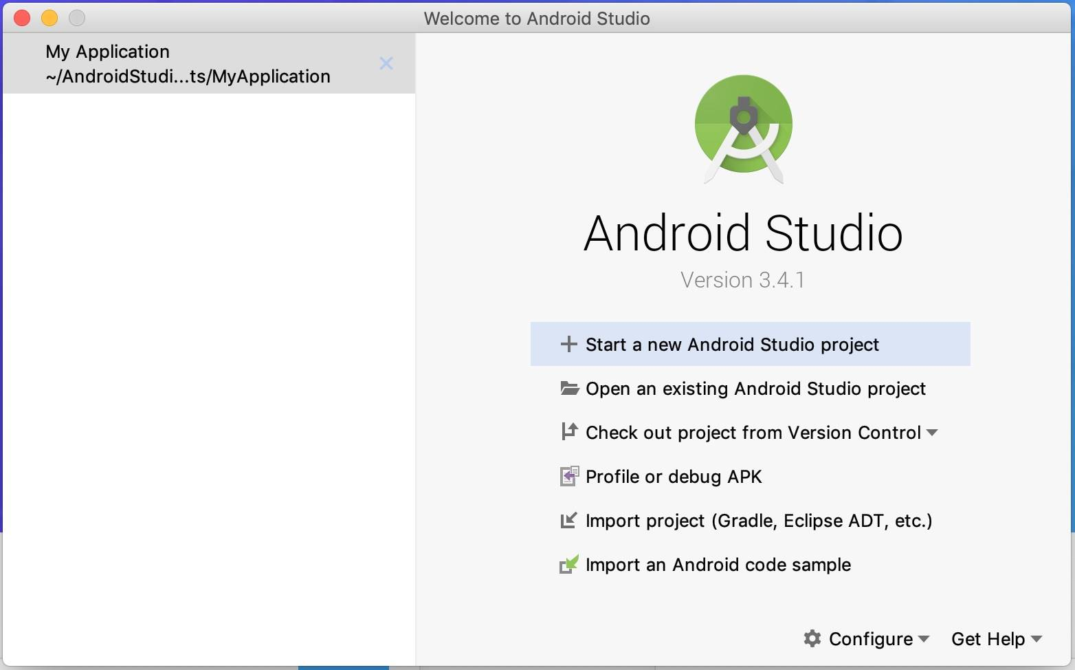 Android studio project - Welcome