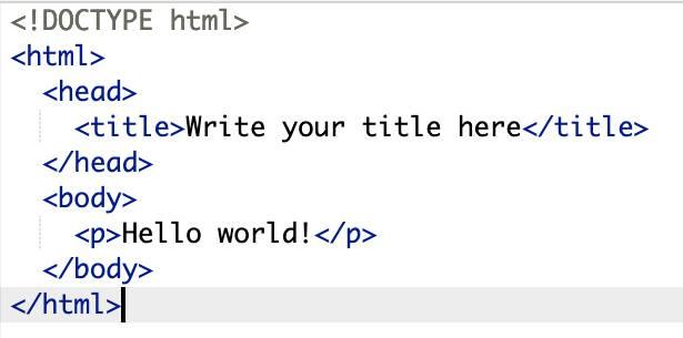 Basic html template - HTML - CodeBrainer