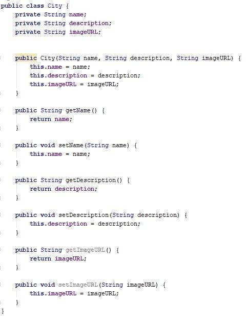 Cities class code - Java - CodeBrainer