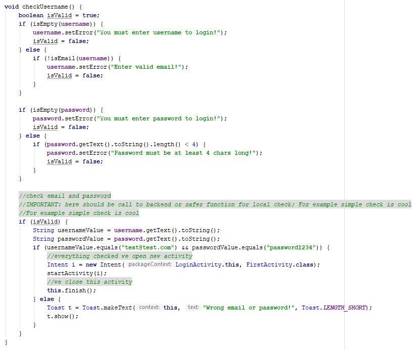 Final code for the checkUsername function - Java - CodeBrainer