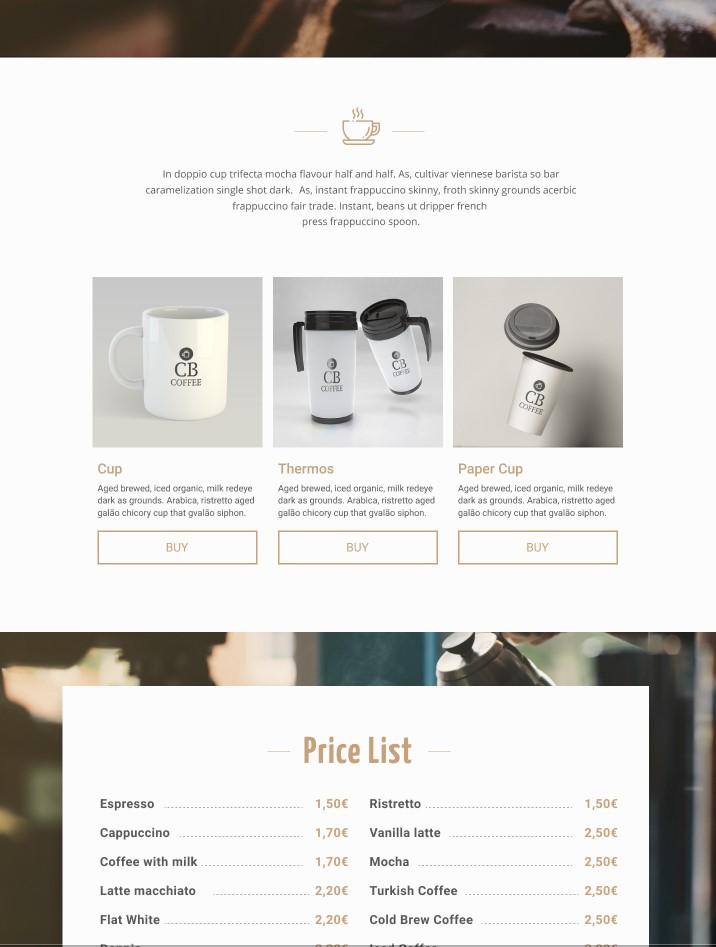CodeBrainer kavarna - Moderna spletna stran od začetka do konca