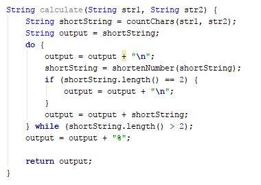 Simple calculate function code - Java - CodeBrainer