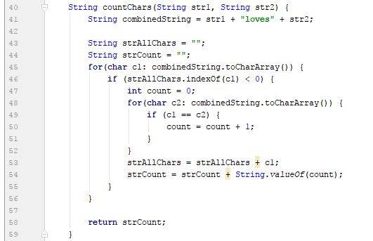 Simple countChars function - Java - CodeBrainer