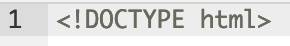 HTML5 Document type declaration
