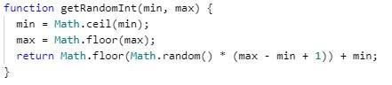 Random integer within a range - JavaScript - CodeBrainer