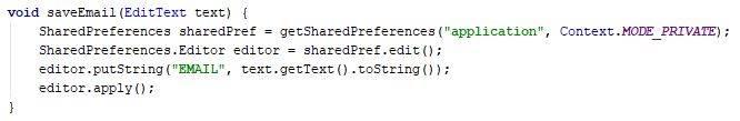 Store email address method - Java - CodeBrainer