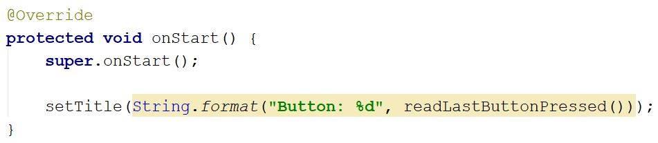 Title override code - Java - CodeBrainer
